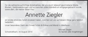 Zur Gedenkseite von Annette