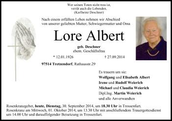 Zur Gedenkseite von Lore