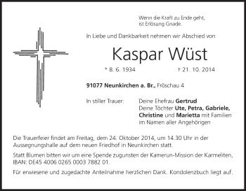 Zur Gedenkseite von Kaspar
