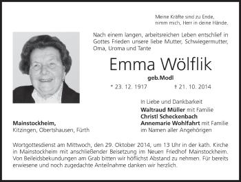 Zur Gedenkseite von Emma