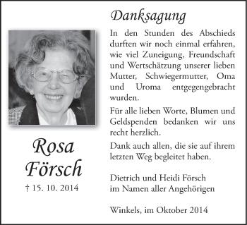 Zur Gedenkseite von Rosa