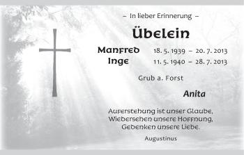 Zur Gedenkseite von Manfred und Inge