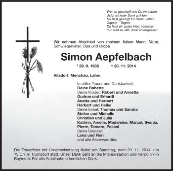 Zur Gedenkseite von Simon