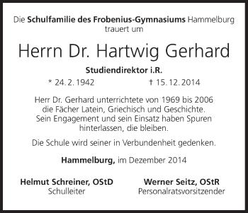 Zur Gedenkseite von Hartwig