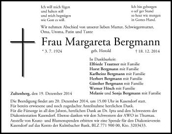 Zur Gedenkseite von Margareta