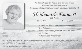 Zur Gedenkseite von Heidemarie