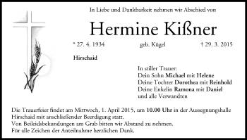 Zur Gedenkseite von Hermine