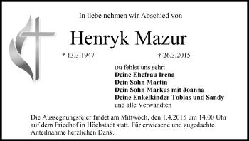 Zur Gedenkseite von Henryk