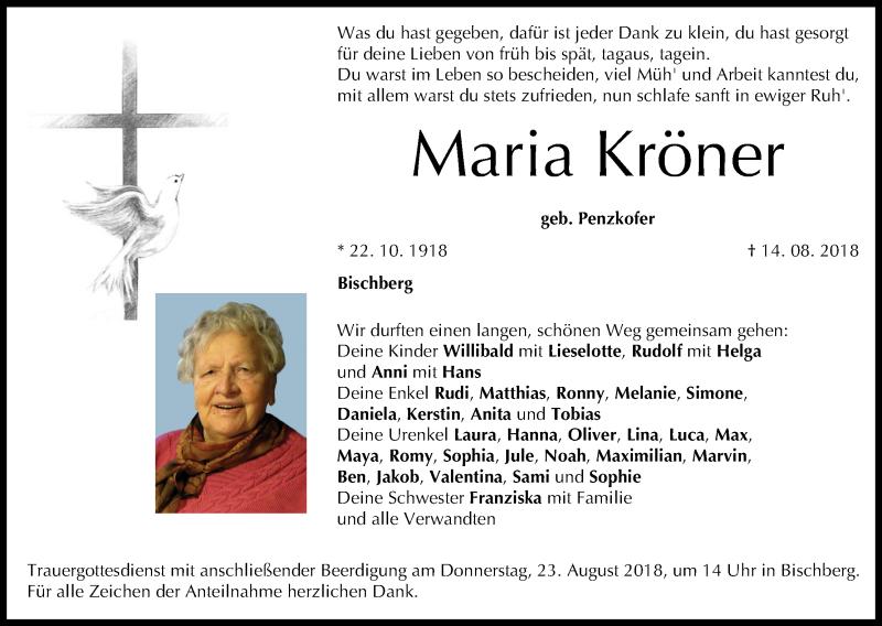 Maria Bögerl Traueranzeige